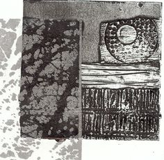 Sue Brown Printmaker:  collagraph prints with gum arabic transfers in ink