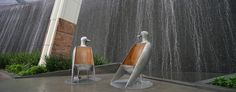 Awesome bird chairs in front of Aria Hotel in Las Vegas. Las Vegas High Rise Condos - City Center Las Vegas