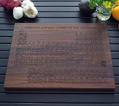 This Periodic Table of the Elements cutting board is truly epic kitchen geekery and makes the perfect gift for anyone who is a fan of science (especially if they like to cook!).