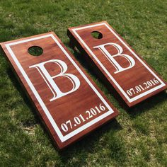 Custom Wedding Cornhole Boards | Wedding Reception | Pinterest ...