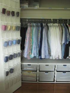 closet organization: Super duper organized mens closet Man Closet Walk In Closet Closet & 50 best Manly Closets images on Pinterest   Dressing room Walk in ...