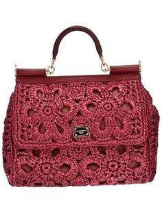 dolce crochet bag | Dolce and Gabbana Crochet Doctors Bag