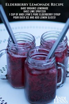 Elderberry Recipes, Elderberry Syrup, Herb Recipes, Recipe Mix, Drink Specials, Lemon Slice, Healthy Drinks, Warm Weather