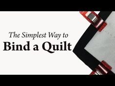 Simplest Way to Bind a Quilt - also includes instructions for a rod casing Diy Quilting For Beginners, Quilting Tips, Quilting Tutorials, Quilting Projects, Sewing Tutorials, Sewing Binding, Quilt Binding, Easy Sewing Projects, Sewing Hacks