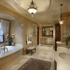 #2~ beautiful beige custom cabinets...master bath
