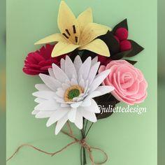 Bride Bouquet, Flower Bouquet, Felt Bouquet, Felt Flowers Bouquet, Bouquet Flowers, Bridesmaid Bouquet by juliettesdesigntr on Etsy https://www.etsy.com/listing/600732010/bride-bouquet-flower-bouquet-felt