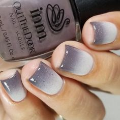 Color Nails: 18 Design Ideas Using Gorgeous Shade Taupe Fade For An Elegant Manicure Gorgeous Nails, Pretty Nails, Nail Polish Colors, Color Nails, Nail Art Vernis, Taupe Nails, Faded Nails, Black Ombre Nails, Beauty Hacks Nails