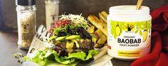 Bao-Burgers: Veggie Burgers for the Braai - Eco products Eco Products, Veggie Burgers, Savoury Dishes, Bao, Veggies, Fruit, Ethnic Recipes, Vegetarian Burger Patties, Vegetable Recipes