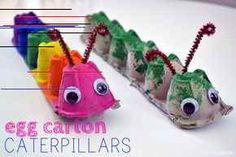 Egg Carton Caterpillar – Balancing Home – Basteln Kinder – Home crafts Craft Projects For Kids, Easy Crafts For Kids, Diy For Kids, Fun Crafts, Craft Ideas, Craft Work, Home Made Paint For Kids, Recycled Crafts For Kids, Painting Ideas For Kids