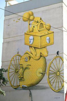 Mural in Sevilla, Spain (untitled). Photo by Aleksei Bordusov (Ukraine). Website:  INTERESNI KAZKI