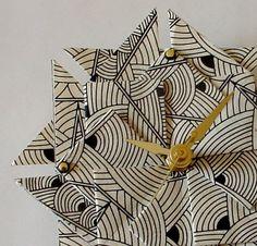 Art Deco origami clock