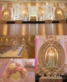 Introducing Indian Wedding Event Design Specialists G.S Decors Arab Wedding, Wedding Mandap, Desi Wedding, Floral Wedding, Wedding Backdrops, Wedding Dinner, Wedding Pics, Wedding Ideas, Reception Stage Decor