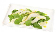 Pear, rocket and parmesan salad Vegetable Recipes, Parmesan, Pear, Sushi, Salads, Vegetables, Ethnic Recipes, Autumn, Food