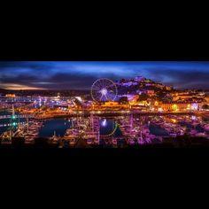 Alan Amore Torquay Lights Harbor Lights, South Devon, Light Photography, Feels, Art Gallery, Sculpture, Fine Art, Holiday, Artist