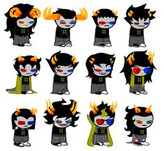 Solluxstuck. Really. It's 2AM. why am I not asleep. // Vriska, though.