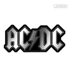 "AC/DC Chrome Logo Sticker features the band's name logo, all tricked out in shiny chrome. This die-cut decal measures approximately 6"" x 2.5""."
