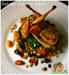 On October 9th, 2012, Tropical Foods had its Flavors of the Fall Recipe Contest with the culinary students at the Charlotte Campus of Johnson & Wales University. This recipe, Autumn Harvest Quail was created by Allegra Grant.