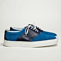 Navy Saddle Sneaker by Hiroshi Tsubouchi