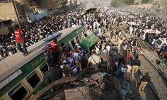 20 Killed As Trains Collide Near Karachi - http://thehawk.in/news/20-killed-trains-collide-near-karachi/