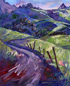 Purple Haze II, original oil painting by Erin Hanson