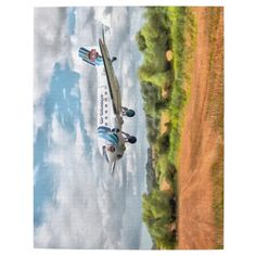 """10 by 14 jigsaw - Douglas Dakota DC3-C [G-AMSV] in the livery of """"Air Atlantique 50 years of the Datota"""""""