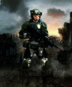 UNSC Tactical Marine by LordHayabusa357.deviantart.com on @deviantART