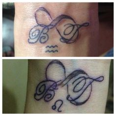 Infinity tattoo with kids letters