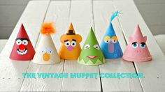 Muppet birthday party hats