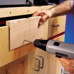 Drawer-Pull Mounting Jig