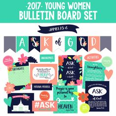 2017 Young Womens Theme-Mutual Theme-Bulletin Board/Decorative Elements Set-LDS