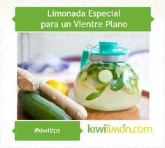 Limonada especial para un vientre plano.
