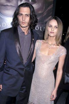 Johnny Depp et Vanessa Paradis peu après leur rencontre en 1999