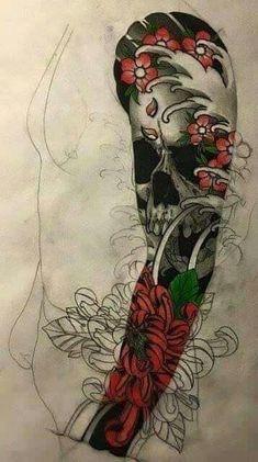maori tattoo designs for women Japanese Tattoos For Men, Japanese Tattoo Art, Japanese Tattoo Designs, Japanese Sleeve Tattoos, Full Sleeve Tattoos, Cover Up Tattoos, Tattoo Sleeve Designs, Skull Tattoos, Body Art Tattoos