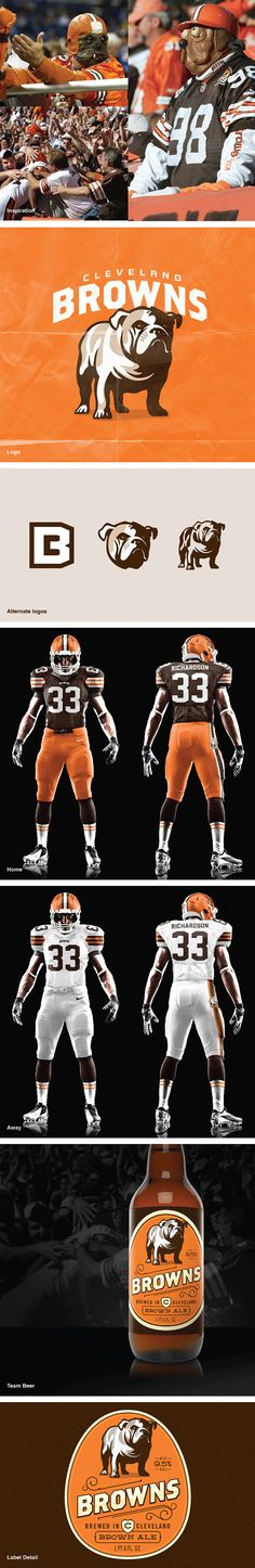 NFL Concept - Cleveland Browns by John Quijano, via Behance Cleveland Browns Logo, Cleveland Rocks, Sports Decals, Sports Logos, Go Browns, Team Mascots, Sports Graphics, Sports Wallpapers, Cool Logo