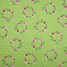 Kinderkatoen - Bloemenkrans Lime