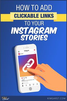 Step by step process of adding Clickable Links to Your Instagram Stories, so you can drive traffic to your website, blog or store. via @KimGarst #instagrammarketing #instagramstories Instagram Marketing Tips, Instagram Tips, Instagram Story, Social Media Tips, Social Media Marketing, Inbound Marketing, Email Marketing, Content Marketing, Affiliate Marketing