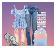 """""""Sunset"""" by juh-styles-334 on Polyvore featuring beleza, Current/Elliott, Vans, Casetify e Kate Spade"""