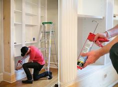 Ikea hack - Wooden trim that matches the home's existing molding creates the custom effect.
