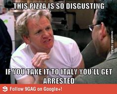 Gordon Ramsay doesn't like this pizza