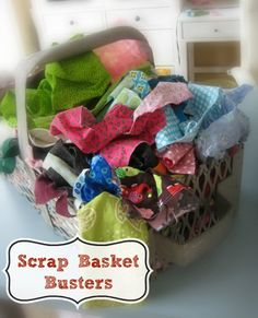 30+ Easy Scrap Fabric Projects guaranteed to clean out your scrap basket! | The Sewing Loft #LetsSew
