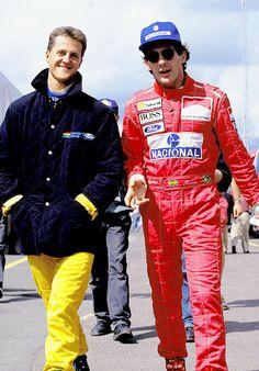 Hope Schumacher makes a full recovery. Picture: Michael Schumacher and Ayrton Senna Michael Schumacher, Mick Schumacher, Grand Prix, Lamborghini Gallardo, F1 Wallpaper Hd, Jochen Rindt, Gilles Villeneuve, Formula 1 Car, Triumph