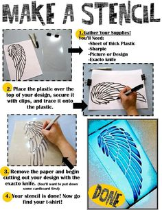 DIY Stencil : Make a Stencil, then arm teens with Spray Paint