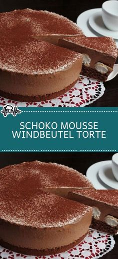 Chocolate Mousse Cream Puff Cake - The Kitchen-Schoko Mousse Windbeutel Torte – Die Küche Chocolate Mousse Cream Puff Cake – The Kitchen - Easy Cupcake Recipes, Easy Cheesecake Recipes, Healthy Dessert Recipes, Cookie Recipes, Dessert Simple, Cakes Originales, Cream Puff Cakes, Desserts Sains, Maila