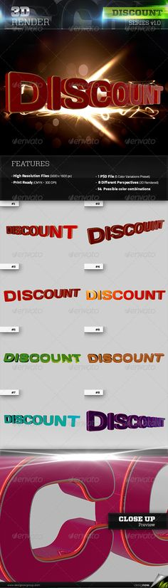 3D Rendered Discount Text with glossy refletions. Great for sales, promotions, new products, shops, and other related themes. It