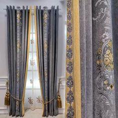 Silk Curtains, Luxury Curtains, Home Curtains, Velvet Curtains, Blackout Curtains, Window Curtains, Curtain Styles, Curtain Ideas, Curtain Designs For Bedroom