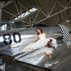 This Pearl Harbor inspired wedding complete with vintage airplanes, suitcases & WW2 memorabilia will bring the romance of the 1940's to you