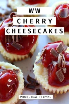 10 Most Misleading Foods That We Imagined Were Being Nutritious! Hese Weight Watchers Cherry Cheesecake Bites Are Simple And Perfect For Any Time Of The Year. There Is Only 4 Weight Watchers Freestyle Smart Points In Each Serving Ww Desserts, Dessert Recipes, Yummy Recipes, Shake Recipes, Light Desserts, Skinny Recipes, Diabetic Recipes, Delicious Desserts, Cherry Cheesecake Bites