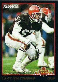 1993 Pinnacle - Men of Autumn 33 Clay Matthews Cleveland Browns Football Card