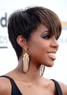 Kelly Rowland x full crown pixie
