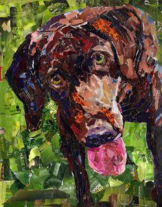 Dog Collage Portrait Mugs by MaritzaHernandezArt on Etsy, $200.00